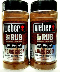 2-Pack-Weber-Spicy-Dark-Cocoa-Dry-Rub-For-Smoking-amp-Barbecuing-12-75-oz-x2