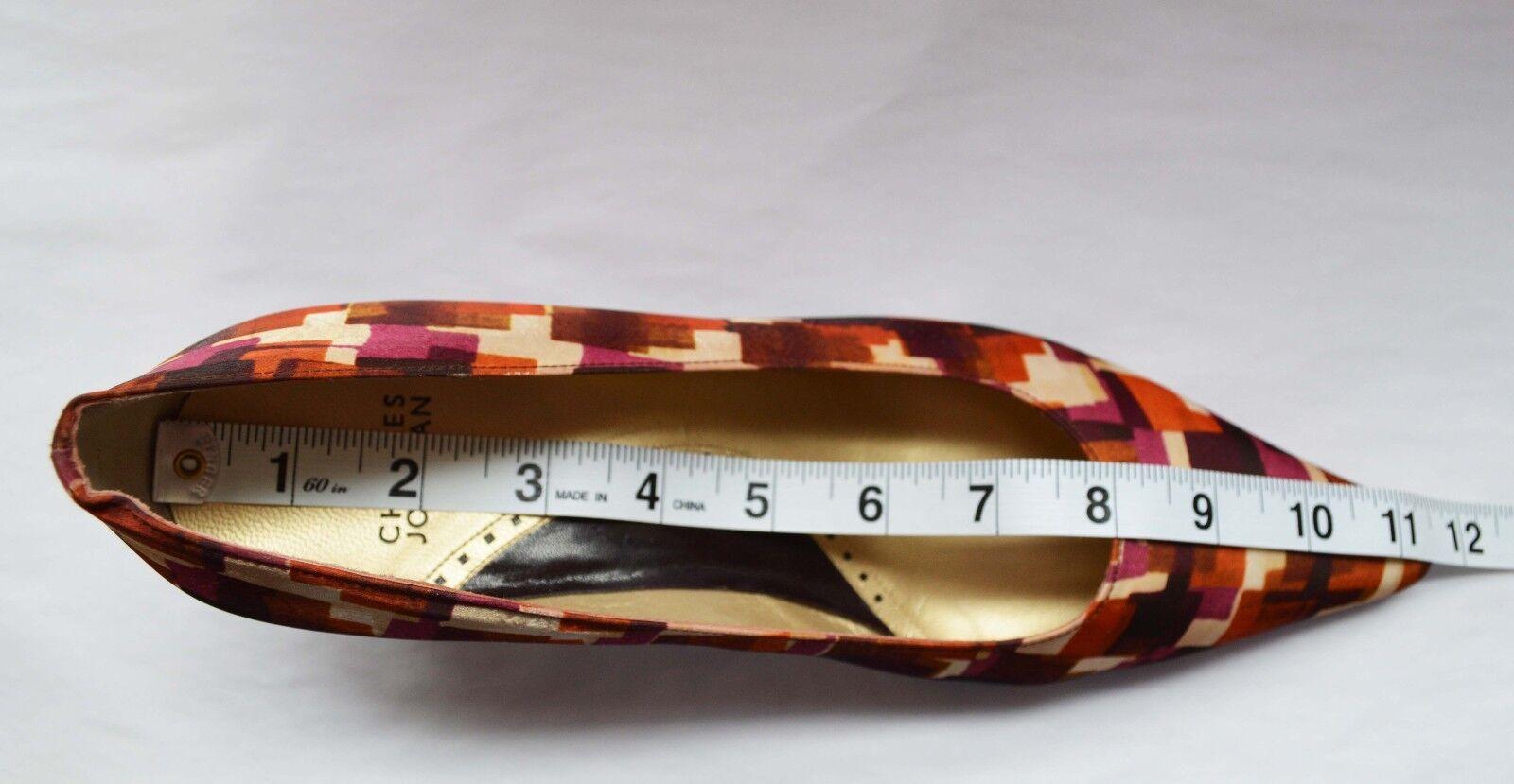 Charles Jourdan Pumps Silk Cubist Retro Rosa Kitten Rosa Retro Gold Größe 8.5 damen schuhe b8e664