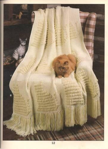 Cat kitten feline designs 10 afghan crochet patterns Afghan Purr-fection