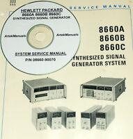 Hp Hewlett Packard 8660a 8660b 8660c Signal Generator, System Service Manual