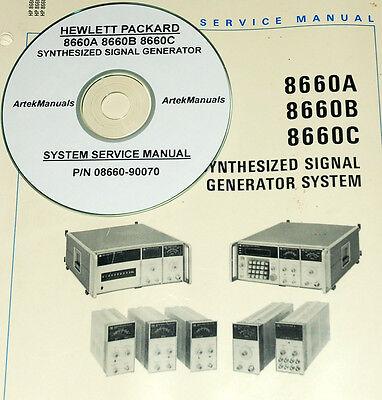 4-Vols for the 8642A 8642B Generator HEWLETT PACKARD Ops+Service Manual Set