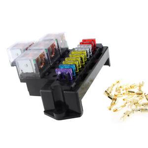 12V 10 Way Universal 5-Pin Relay Standard Blade Fuse Box Block Holder Car  Parts | eBayeBay
