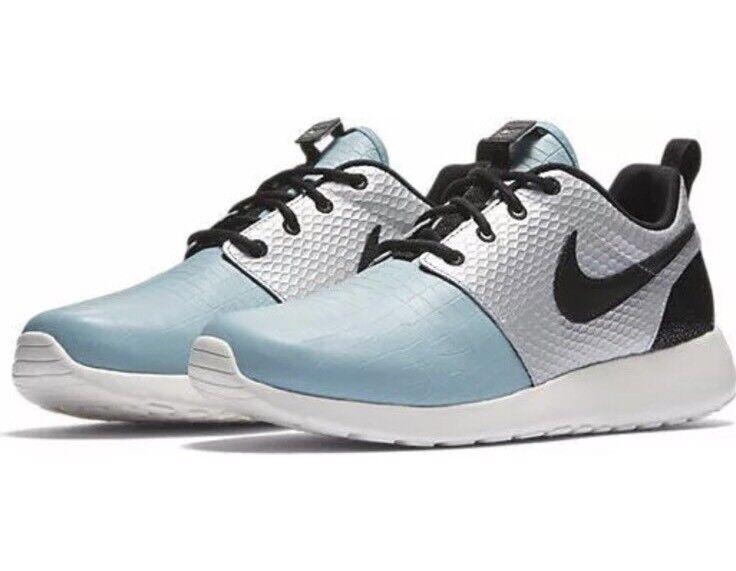 Nike Roshe One LX WMNS Metallic Silver Black Mica Mica Mica bluee Ivory 881202 002 Sz 6.5 3387a5