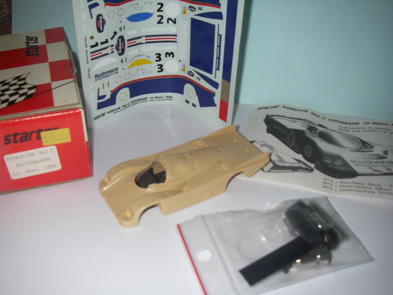 Miniature Kit Porsche 962C Rothmans Le Mans 1986 - STARTER