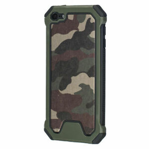 Hybrid Deluxe Premium Camo Green Hard Case Cover for Ipod Touch 7 7th gen A2178