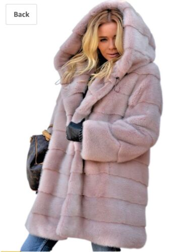 Fleece Uk Trench Coat Ginocchio Con Giacche Cappuccio Womens Winter Al Fluffy 0tw08r
