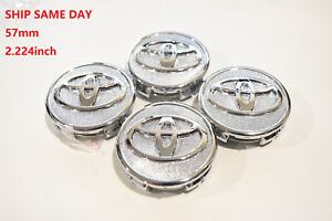 4-pcs-Toyota-Wheel-Center-Cap-Chrome-57-MM-Corolla-Yaris-Prius