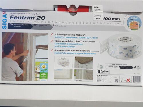 Siga Fentrim 20 Dichtungsband 100mm Fensterdichtband 25m innen Hochleistungsband