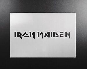 Iron Maiden Logo Stencil Airbrush Wall Art Craft Rock Music Home Diy