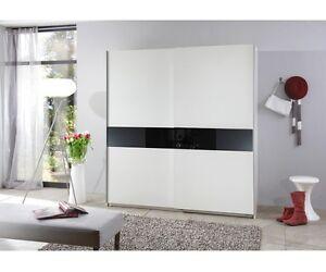 schwebent renschrank schiebeschrank kleiderschrank schrank wei schwarz 4260389932941 ebay. Black Bedroom Furniture Sets. Home Design Ideas