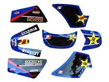 Kit Déco Stickers Rockstar BLEU PW50 PIWI PEE WEE YAMAHA Haute Qualité 3M DS024