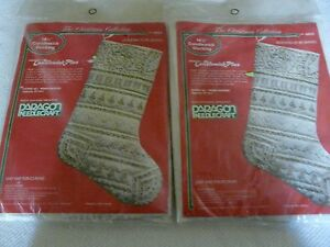 Set of 2 Christmas Collection Paragon 6823 Candlewick Plus stocking Kits Gold