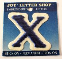 The Letter X Blue Adn White 1.25 X 1.5 Uniform Patch