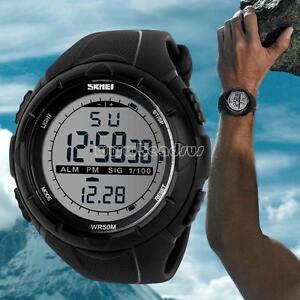 a9a8d24093b1 La foto se está cargando Reloj-de-Pulsera-de-Lujo-SKMEI-Hombres-Analogico-