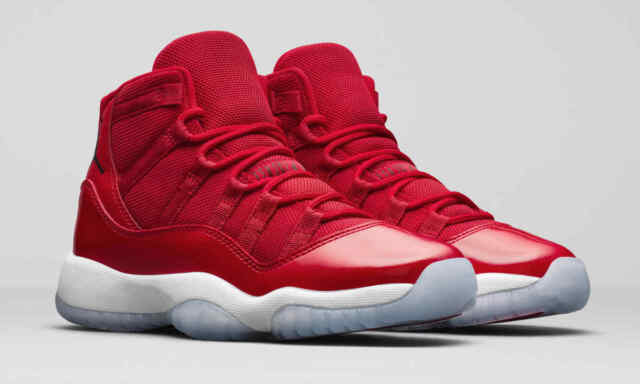 9045123d2616 Nike Air Jordan 11.5 Win Like 96 Retro XI Gym Red 378037 623 for ...