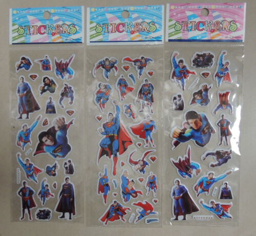 SUPERMAN HERO PUFFY STICKER PARTY LOOT LOLLY BAG TREAT BOX FILLER GIFT FAVOR