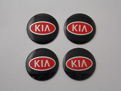 4x Stickers Caps 56mm For KIA Wheel Cap Centre Emblem Sticker Silver//Red