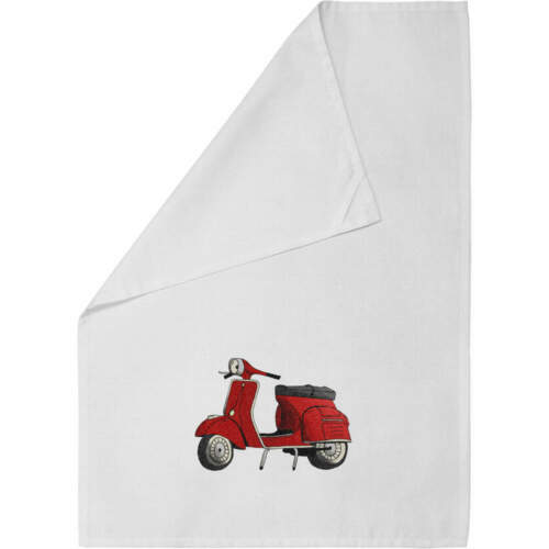 /'Red Scooter/' Cotton Tea Towel TW00012675 Dish Cloth