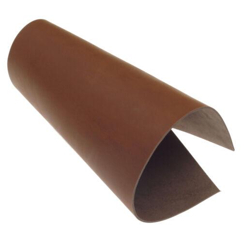 Rindsleder Cognac Pull-Up 2,5 mm Dick Braun Echt Leder Croupon Leather 14