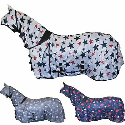 Glorioso Best Su Cavallo Stampa Stelle Combo Fly Tappeto Completa Del Collo Faccia Orecchie Bug Protezione Foglio-
