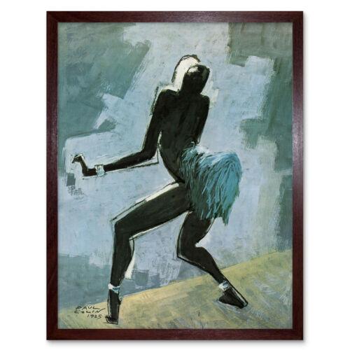 Colin bailarín animador Josephine Baker pintura enmarcada pared arte cartel
