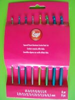 Boye Aluminum Crochet Hooks, Set Of 8, Sizes D, E, F, G, H, I, J, K