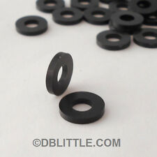 (100) PREMIUM Black Nylon #10 Washers for Rack Screws & fasteners 6/6 Polyamide