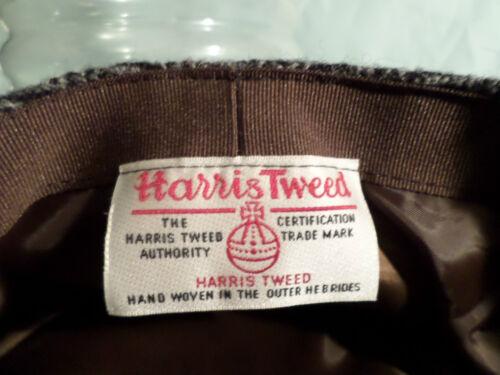 QUALITY HAT SCOTTISH HARRIS TWEED HERRINGBONE FLAT CAP MADE IN GREAT BRITAIN