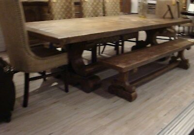 Santa Fe Driftwood Rustic Table Extension Farmhouse Dining Table 108 144 G Ebay