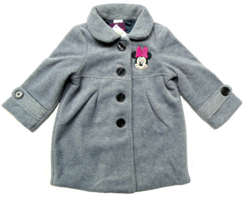 Disney Minnie Mouse Mantel Fleecemantel Wintermantel Jacke grau Gr.80 86 92 Neu