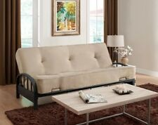 Metal Futon Frame for Modern Full Size Sofa Bed Sleeper Couch Dorm Guest No Tax!