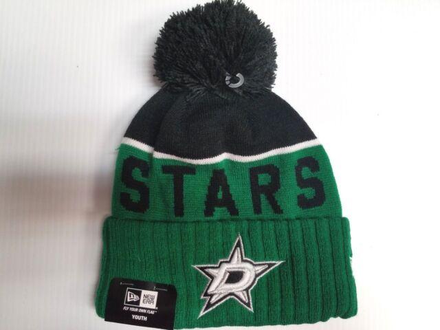 a57b4f4c971 YOUTH Dallas Stars New Era Knit Hat 2015 Sport Beanie Cuff Pom Stocking Cap  NHL