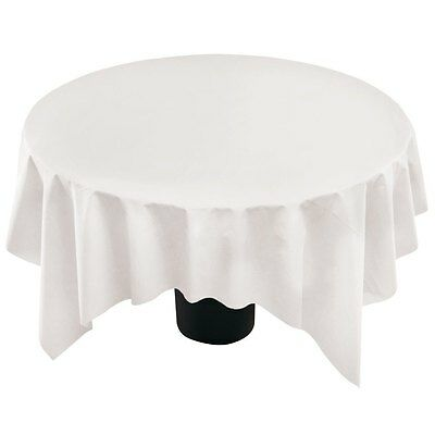 82 White Round Paper Tissue Poly Lined, Round Paper Table Covers White