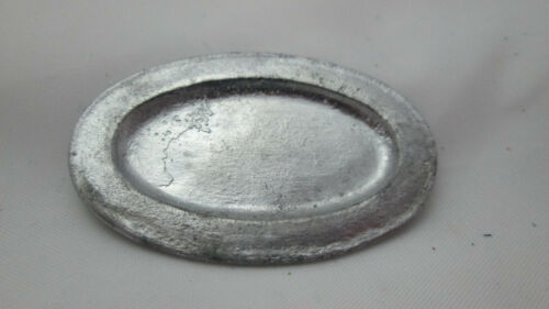 Oval Tray Dollhouse Miniature Unfinished Metal Early Amer