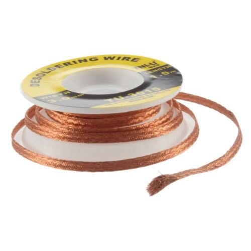 5 Feet //1.5M 3mm Desoldering Braid Solder Remover Wick Wire Repair Tool new DSUS