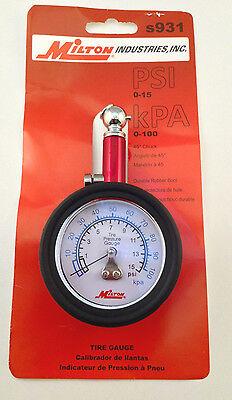 Milton s931 15 Lb Low Pressure Tire Measurement Gauge
