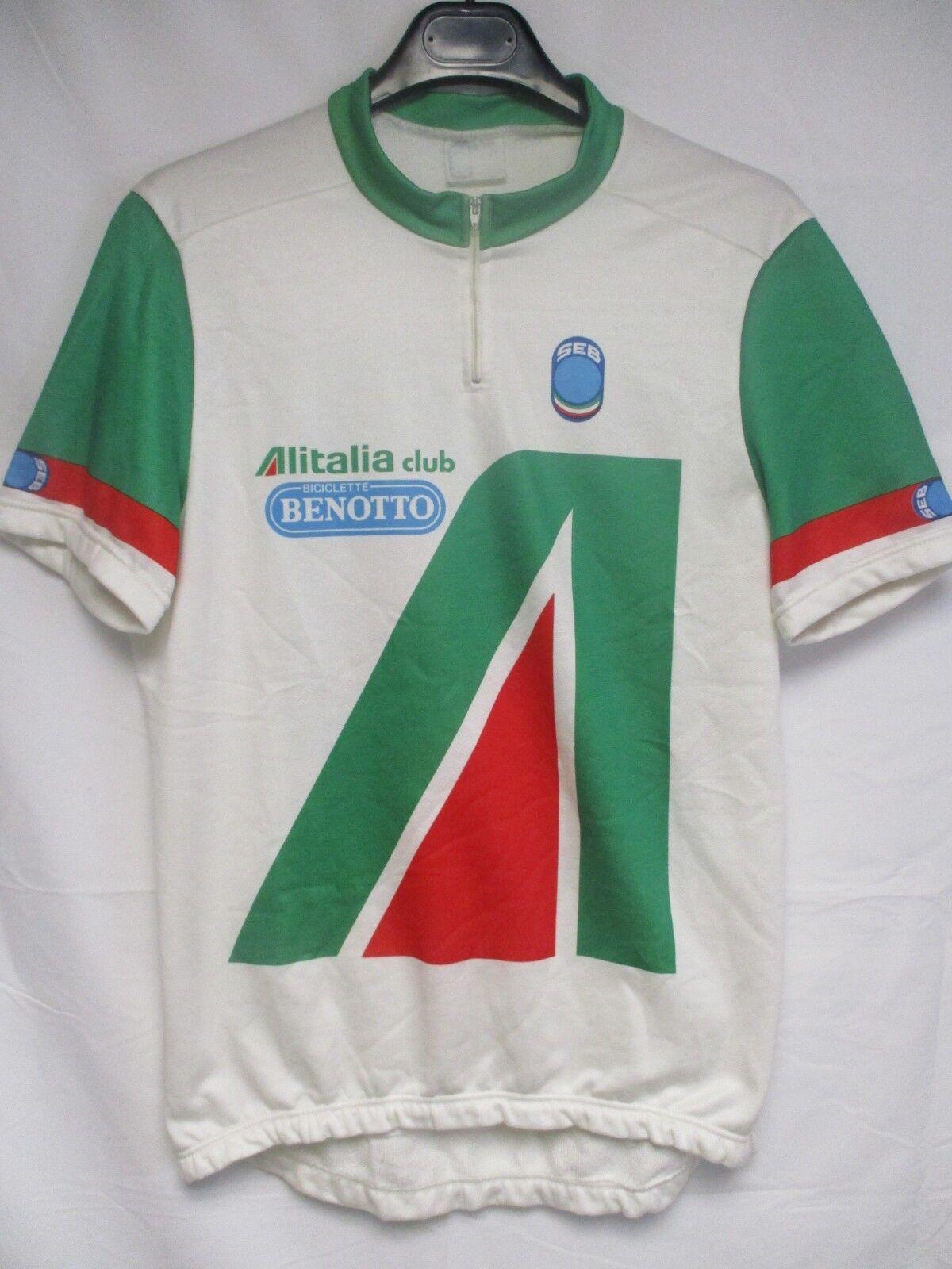 Maillot cycliste ALITALIA club BENOTTO maglia vintage SEB shirt jersey 80's XXL