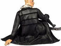 L soft light reversible jacket black persian lamb fur coat leather CHINCHILLA