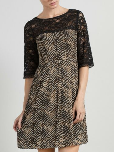 Somerset By Alice Temperley Amimal Print Zigzag Lace DressSIZE 10 12 16 18