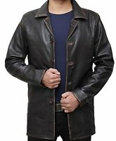 - Cafe Racer Distressed Brown Real Lambskin Leather Jacket For Mens