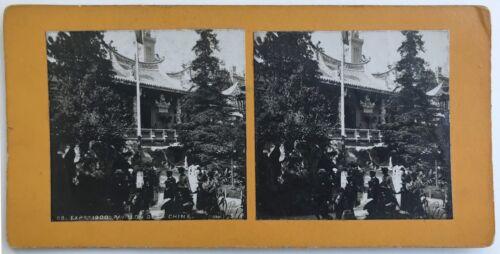 Ausstellung Universal de Paris 1900 Pavillon China China Foto Stereo
