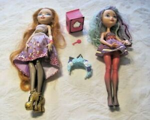 Ever-After-High-Doll-Lot-Holly-O-039-hara-Doll-amp-Madeline-Hatter-Doll-Accessories