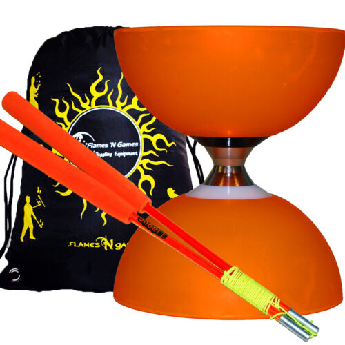 Bag Fibre Diablo Hand Sticks CYCLONE CLASSIC Triple Ball Bearing Diabolo Set