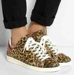 06c7432bb204 New Isabel Marant Etoile Bart Leopard Print Calf Hair Skate Sneakers ...