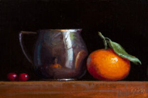 Still-Life-w-Silver-Creamer-Clementine-amp-Cranberries-painting-by-Abbey-Ryan