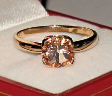 *WOW! SALE* 10K ROSE GOLD 2.50CT SOLITAIRE PEACHY PINK MORGANITE RING 2.9 GMS