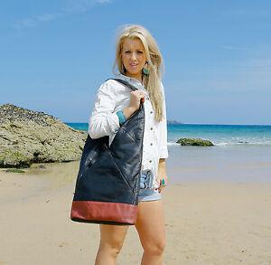Boulevard-Chelsea-Large-Leather-Handbag-Shoulder-bag-Black-Tan