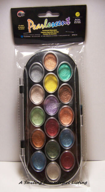 AS IS Sale - 16 Color Pearlescent Watercolor Paint Set  Add Shimmer to Paper Art