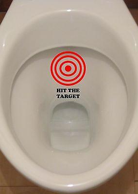 R278 HIT THE TARGET AIM Toilet Funny Sticker Bathroom Decal Vinyl Wal Art URINAL