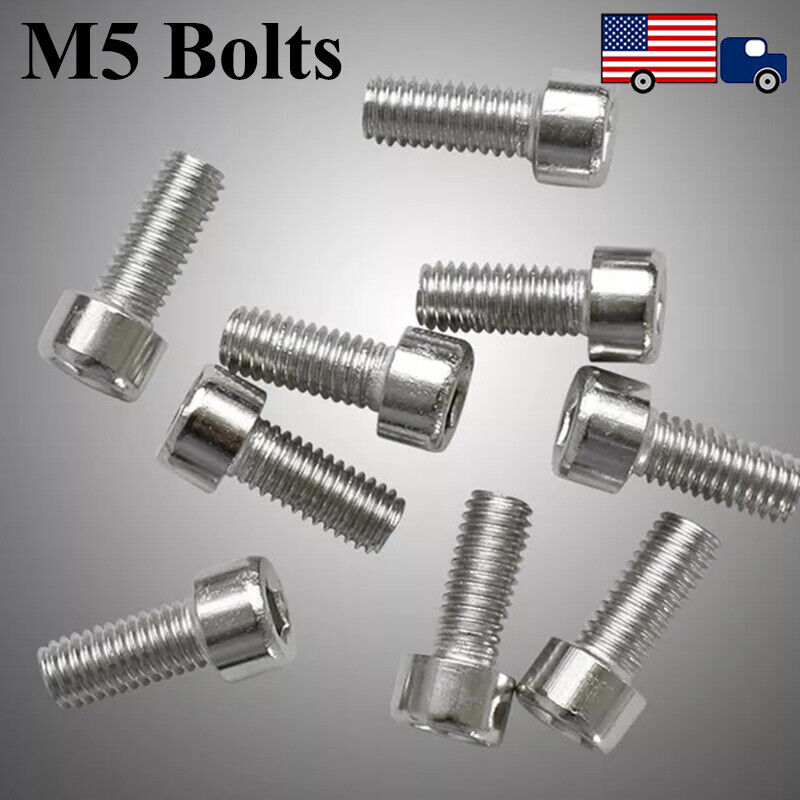 20pcs Stainless Steel Bike Water Bottle Cage Bolts Holder Socket Silver Screws